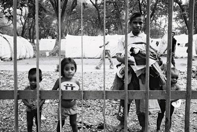 « Jardim »  Camp de déplacés internes, Dili.
